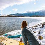 Paddle surf lago